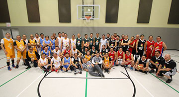 Grace Point Church of God Basketball League opened with six teams in Edmonton. Games are played every Monday night.