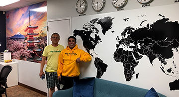 The Privileged Hour At The Fly Friendly Travel And Tours' Office