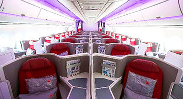 Hong Kong Airlines debuts new Business Class product on Airbus A350
