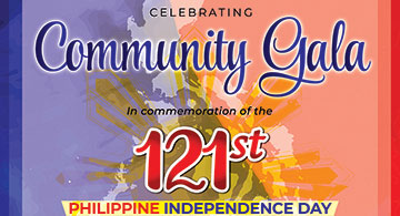 Celebrating Community Gala in Commemoration of the 121st Philippine Independence