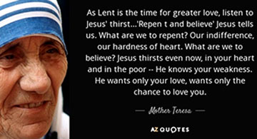 The Lenten Journey Has Begun