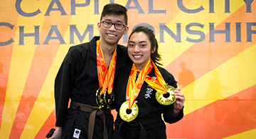 Pinoys took gold medals in Capital City Provincial Karate Championships