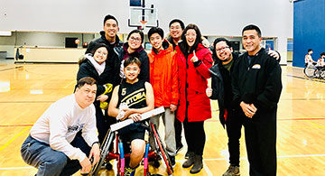 Filipino amputee plays wheelchair basketball in Edmonton