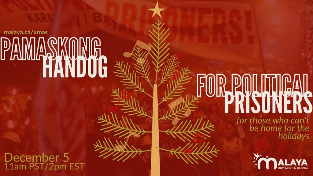 Political Prisoners Christmas 2021 Pamaskong Handog Christmas Benefit Concert For Political Prisoners By Malaya Canada Alberta Filipino Journal