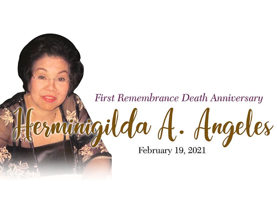 Remembering Hermie Angeles on the First Anniversary of her passing